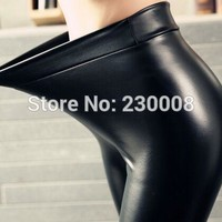 PU Leather Pants Fleece Fashion New Women's Pant 2017 Thicken Winter Female elastic velvet bottoming Stretch Slim Pencil Pants