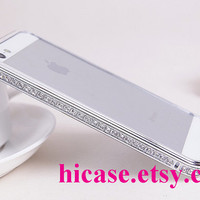High quality bling rhinestone metal frame iphone 5s case iphone 5c iphone 5 4 4s samsung galaxy s5 case galaxy s4 case galaxy note 2 note 3