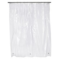 Solid Super Soft Vinyl Shower Liner Clear - Room Essentials™