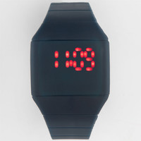 Rubber Square Face Led Watch Navy One Size For Men 25394921001