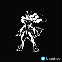 POKEMON MEGA LUCARIO GAME DECAL STICKER