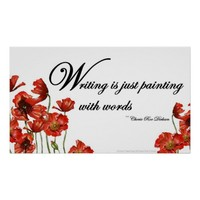 Writing is Painting with Words Quote Print