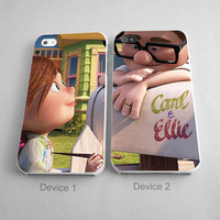 Carl And Ellie Teen Falling Love Couples Phone Case iPhone 4/4S, 5/5S, 5C Series - Hard Plastic, Rubber Case
