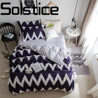 Solstice Home Sleek minimalist and comfortable active printing dyeing cotton bed linen Quilt cover pillowcase bedding 3/4pcs