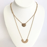 Off The Chain Copper Layered Necklace