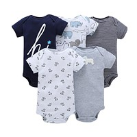 Baby Romper Short Sleeve Cotton Boy Girl Clothes Wear Jumpsuits Clothing Set Body Suits