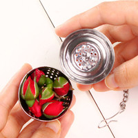 NEW Kitchen Tool Stainless Steel Ball Herbal Spice Filter Diffuser Tea Strainer