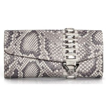 Circle & Square | Lago Clutch Natural Python