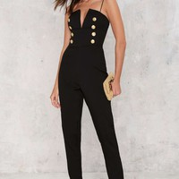 Rare London Stand Down Plunging Jumpsuit
