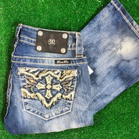 MISS ME FANTASY CROSS BOOTCUT JEANS