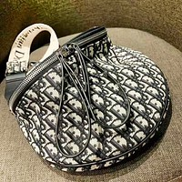 DIOR Fashion New Letter Print High Quality Shopping Leisure Shoulder Bag Women