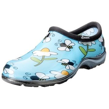 Sloggers Rain and Garden Shoes - Bees Blue