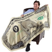 "Milion Dolar Fleece Throw Blanket (71"" X 35"")"