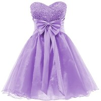 Dresstells® Short Homecoming Dress Sweetheart Organza Prom Cocktail Patry Dress