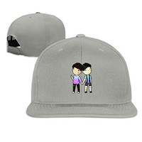 MYDT1 Unisex Dan Is Not On Fire And Amazing Phil Flat Caps Hats