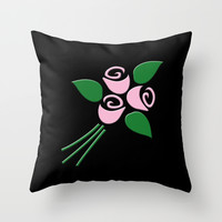 Pink roses Throw Pillow by Gbcimages