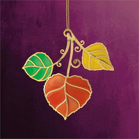 Fall Colored Christmas Ornament - Handcrafted