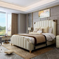 Light Luxurious Simple Leather Bed For Bedroom Furniture