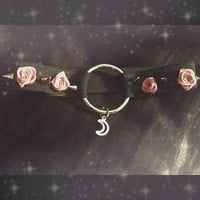 Roses and spikes moon collar