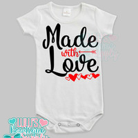 Baby Unisex Shirt Bodysuit, Custom Baby Made with Love Unisex clothes , Baby girl, Baby boy clothes, New Baby Gift , Baby Gift, Custom