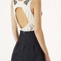 Leaf Embellished Open Back Top - New In This Week - New In - Topshop USA