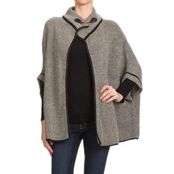 Tweed Poncho (color options available)