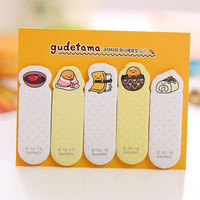 Sticky Notes Labels Memo Pad | Bookmark Cute Korean Post-It | Stationary | School Office Supplies Egg Finger-it M28