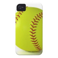Softball IPhone Case iPhone 4 Cases from Zazzle.com