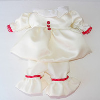 Clothes Pennywise Inspired Costume Handmade to fit Bitty Baby or Baby Born Doll