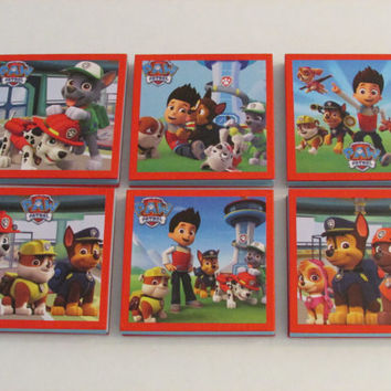 Paw Patrol Scenes Note Pads Set of 6 - Excellent Party Favors - Pinata Stuffer - Goodie Bag Stuffer