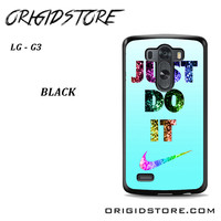 Nike Just Do It Cyan Bling For LG G3 Case UY