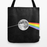 Dark Side of the Moon. Tote Bag by Nick Nelson