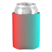 Two Tone Red And Green Can Cooler