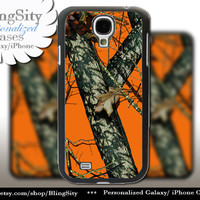 Orange Camo Galaxy S4 case S5 Real Tree Camouflage Personalized Samsung Galaxy S3 Case Note 2 3 Cover Country Girl and men