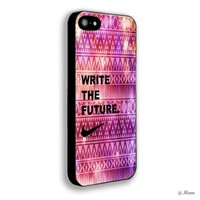 Nike Quote Aztec Geometric 02 for Iphone 5,5s Case (Iphone 5 Black)