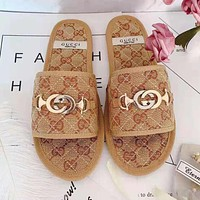 GUCCI Fashion Women Casual Flats Sandals Slippers Shoes