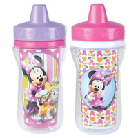 The First Years 2 Pack 9 Ounce Insulated Sippy Cup, Minnie Mouse