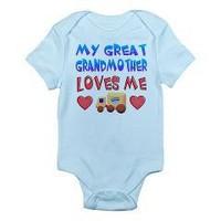"""Baby-Boy """"Great Grandmother"""" Infant Bodysuit> Gifts for Boys from Great Grandma> Only Originals"""