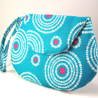 Starburst.. Blue, Pink and White Mini Clutch - Small Clutch