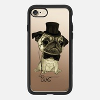 Gentle Pug (wood) iPhone 7 Case by Barruf | Casetify