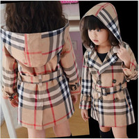 Girls Plaid Winter Jacket
