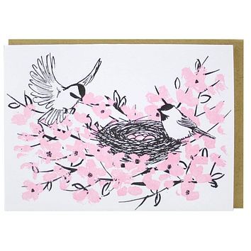 Birds in Nest Boxed Note Cards
