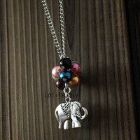 elephant Beadwork Necklace, Flying House, Flying Dreams, Up Movie Necklace