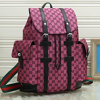 GG new product stitching color letter embroidery large capacity luggage bag travel bag backpack school bag Daypack