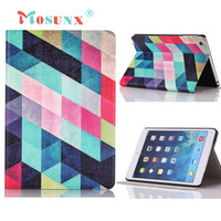 Hot selling Mosunx Gifts Colored Squares Flip Stand Leather Case Cover For iPad Mini 1 2 3 Retina 1PC