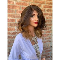 Brown Hair Wig, Ombre Light Blonde 919 5