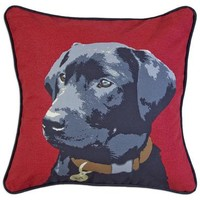 """Jack Lab on Red 18"""" Canvas Pillow"""