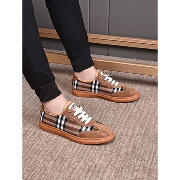 BURBERRY2021 Men Fashion Boots fashionable Casual leather Breathable Sneakers Running Shoes06260cx