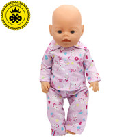 Handmade Baby Born Zapf Pajamas Suit Doll Clothes Fit 43cm Baby Born Zapf Doll Clothes Baby Birthday Gift Doll Accessories 023