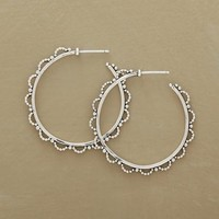 Lacy Beaded Hoop Earrings